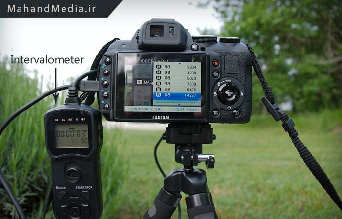 دستگاه اینتروالومتر متصل به دوربین عکاسی