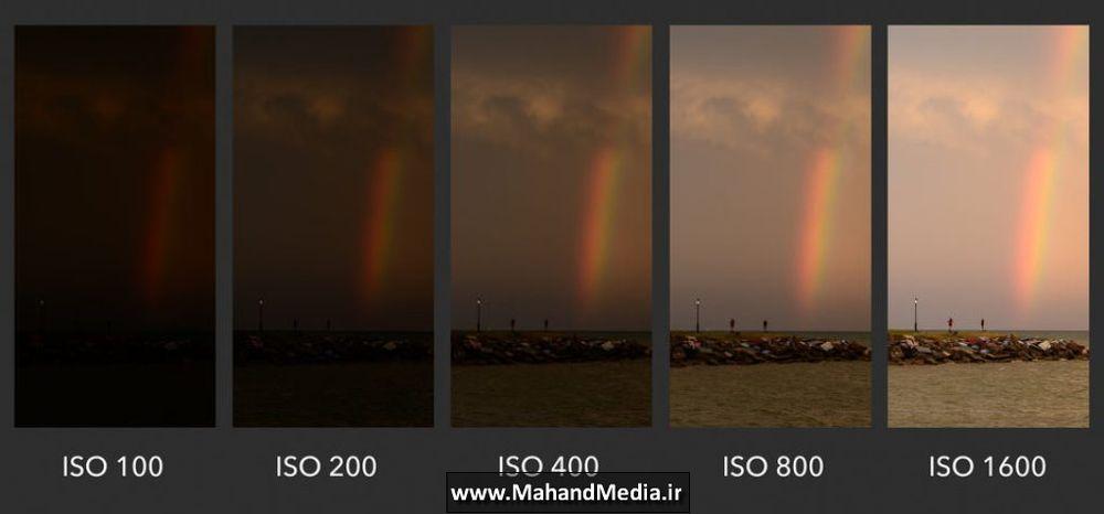 تاثیر ISO بر روی نور عکس