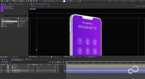 طراحی موبایل سه بعدی در نرم افزار افترافکت